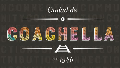 An iteration of Coachella's new logo, designed by DeAztlan Consulting.