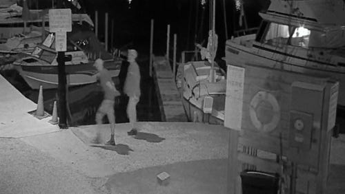 Police are looking for help to identify two suspects following the theft of boating and fishing equipment at the South Milwaukee Yacht Club, 101 Marshall Ave. in South Milwaukee.