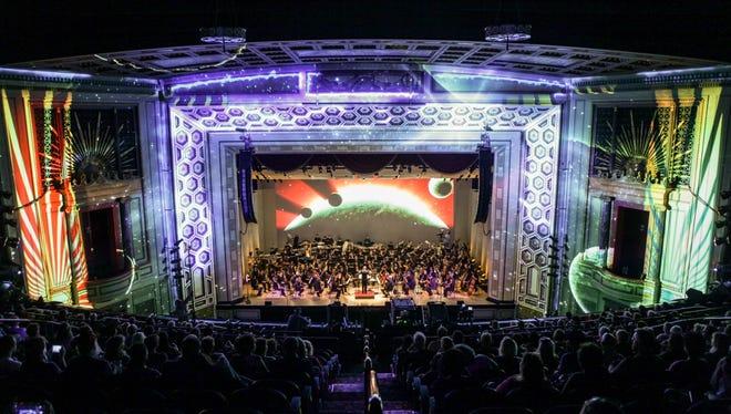 "The Cincinnati Symphony Orchestra's ""Lumenocity: Re-imagine,"" has a dress rehearsal at Taft Theatre on Aug. 4."
