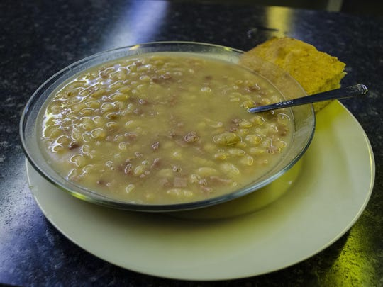 The ham and beans with cornbread at The Dinner Bell is one of a kind at the Delaware County Fair.