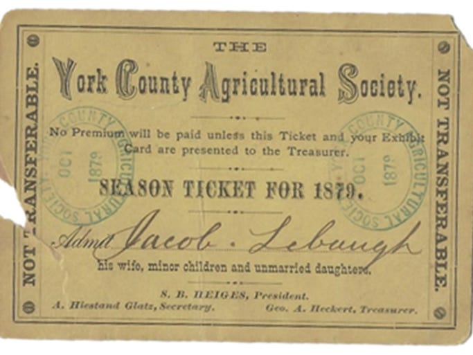 Season ticket for 1879 