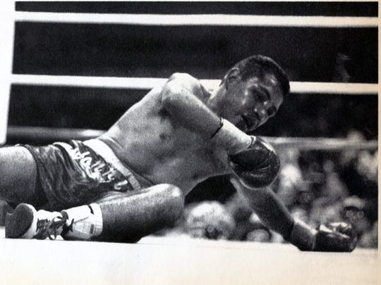 In this file photo, Fernie Morales tries to rise from