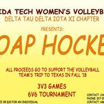 Soap Hockey Fundraiser for FIT Volleyball