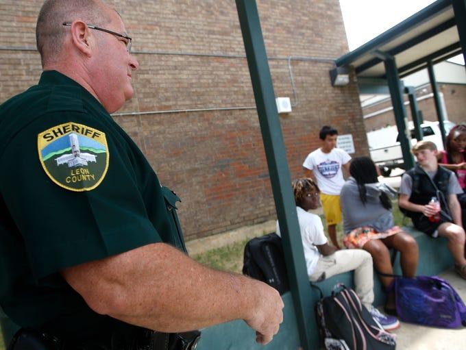 Lincoln High School's SEO Deputy Jon Etheridge makes