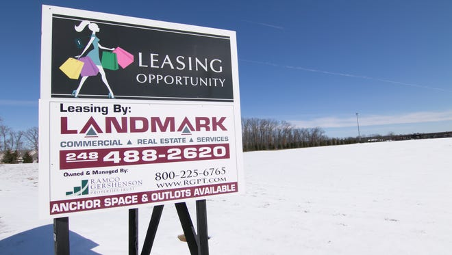 Apartments are under consideration west of the Hartland Meijer in an area earmarked for commercial property, shown Monday, Mar. 5, 2018.