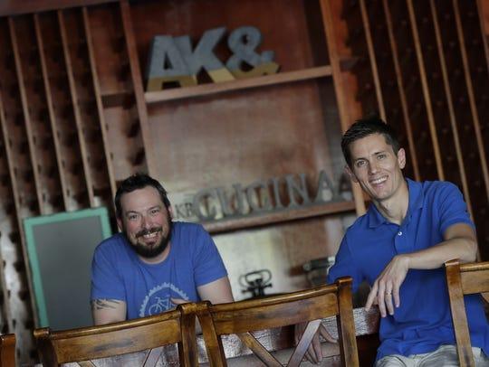 Josh Sickler, left, and Matias Whittingslow are chef/owners
