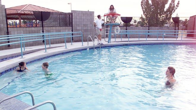 The pool at Telephone Pioneers of America Park in Phoenix  meet the needs of residents with special physical needs.