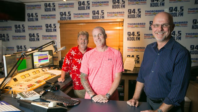 Afternoon-drive DJ Steve Goddard (from left), Assistant Program Director and on-air personality Charlie Huero and Program Director Dave Shakes of KOOL-FM (94.5), which built a brand on music from the 1950s and '60s but has expanded its playlist.