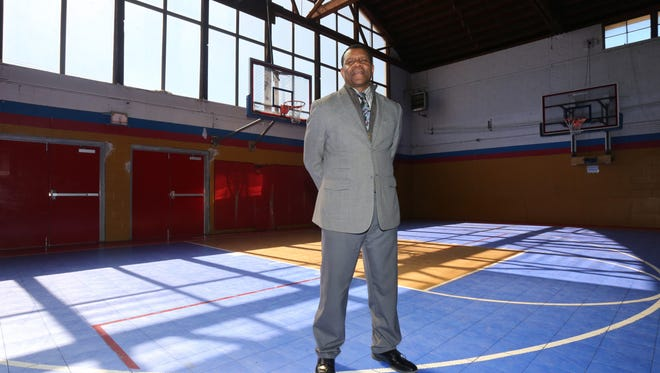 Lowes Moore, the executive director for development at the Boys and Girls Club of Mount Vernon, is pictured at the basketball court at the club in Mount Vernon, March 22, 2017.