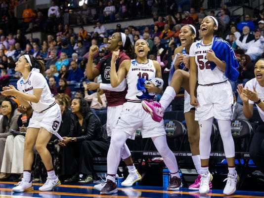 NCAA Womens Basketball: NCAA Tournament-Stockton Regional-South Carolina vs. Quinnipiac