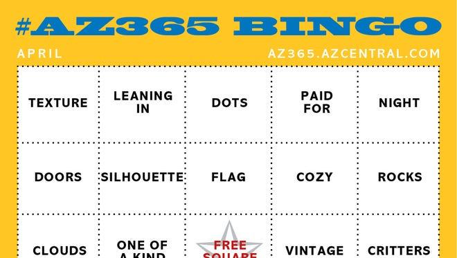 AZ365 April photo bingo