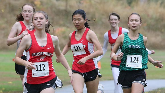 Crosspoint's Kaylee Couder (left) finished first in