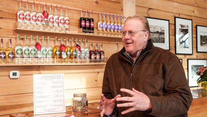 Peter Jillson, owner, talks about the the business of the Silo Distillery in Windsor, Vt. (Zach Stephens)