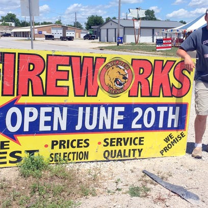 Fireworks are already readily available to Iowans who