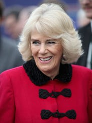 Camilla, Duchess of Cornwall, greets well-wishers as