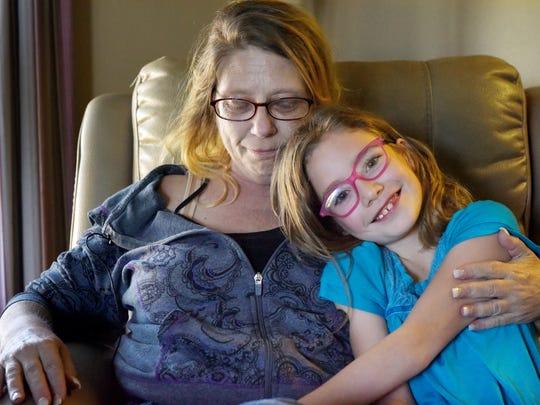 Wendy Lelli (left) and granddaughter Ailla Billbe talk