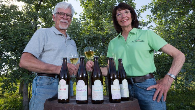 John Biondi and Deirdre Birmingham spent years taming a wild apple orchard near Mineral Point to create The Cider Farm hard ciders and apple brandy.
