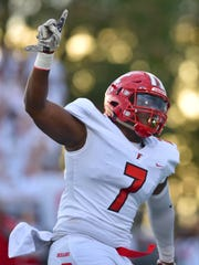 Fairfield's Malik Vann celebrates in the first quarter