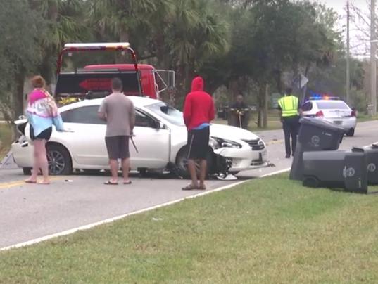 Stolen car crash in Titusville