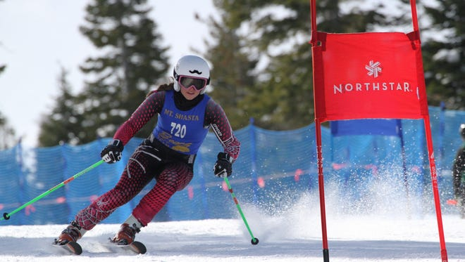 Mount Shasta High's Carter Chase was fourth in the state in girls ski Thursday in the CNISSF at Northstar at Tahoe.