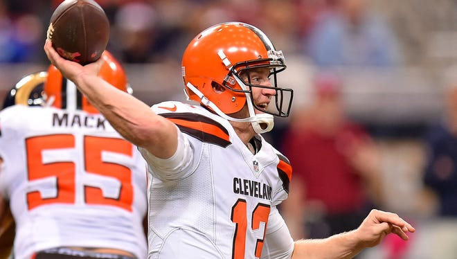Browns QB Josh McCown left last Sunday's game early.