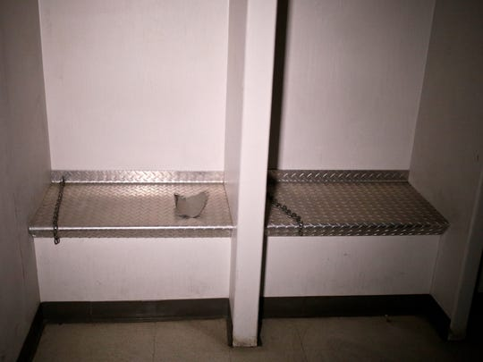 A security detention center room inside the tunnels