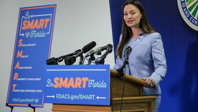 "TALLAHASSEE -- Florida Agriculture Commissioner Nicole ""Nikki"" Fried unveils her ""Be SMART Florida"" plan to help fight the spread of the coronavirus."