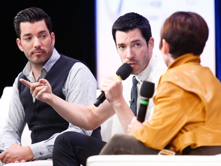 HGTV's Property Brothers, Jonathan Scott, left, and