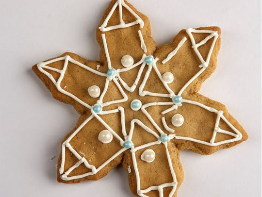 Ginger chai spice cutout cookies.