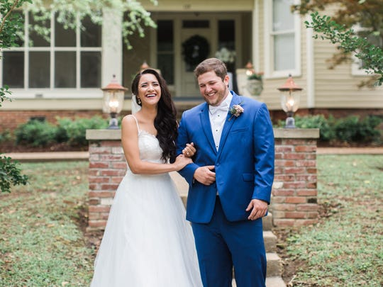 """""""As cliché as it sounds, I knew then that I was going to love that boy with the number 16 on his jersey,"""" said Sena Neihaus of the moment she first saw her now husband, Will Neihaus, in his baseball uniform at Northwest Rankin High School."""