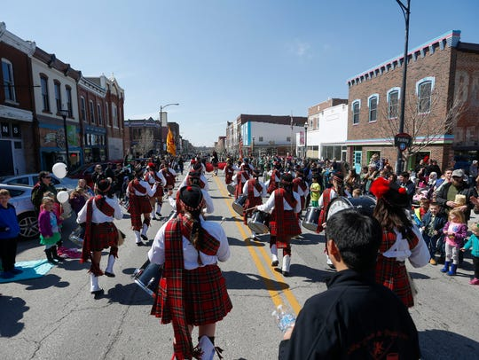 The Central High School Kiltie Drum & Bugle Corps marches