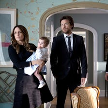 """Tina Fey (from left), Jason Bateman, Corey Stoll and Adam Driver in a scene from """"This Is Where I Leave You."""""""