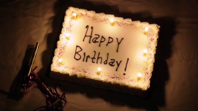 Happy birthday cake.