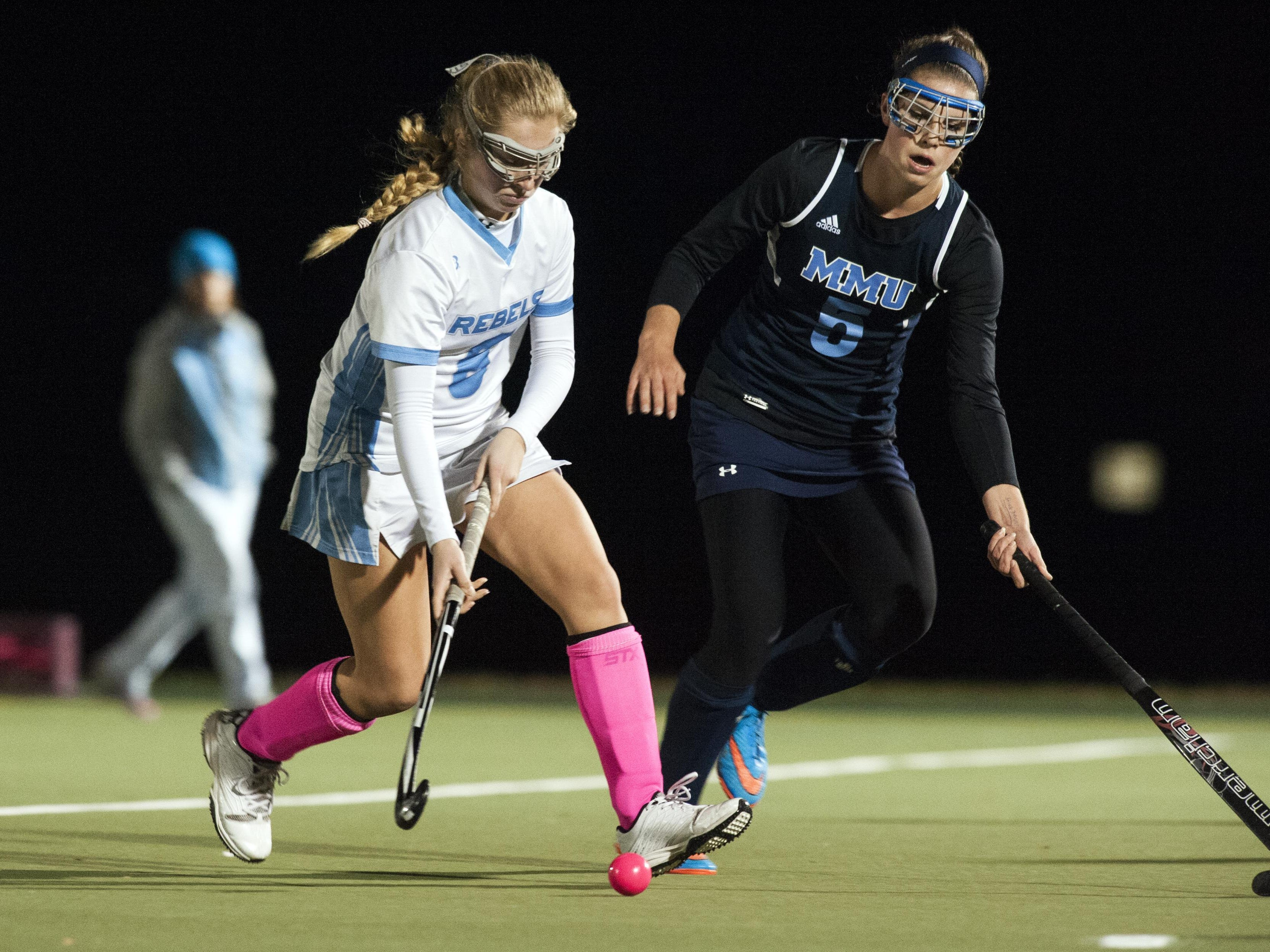Kimberly Norris, left, and South Burlington will play in today's Division I high school field hockey final against Champlain Valley.