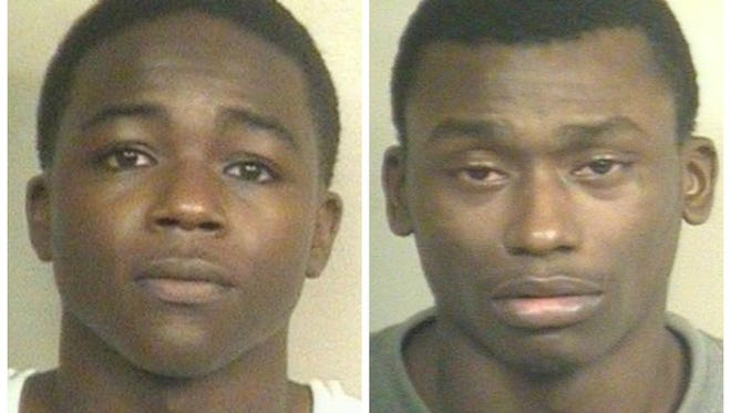 Joseph Carpenter, left, and Jawanza Burden turned themselves in to Jackson Police Department Wednesday and Thursday in connection with separate armed robbery incidents.