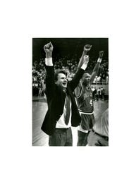 Cardinals basketball coach Dick Hunsaker enjoys his