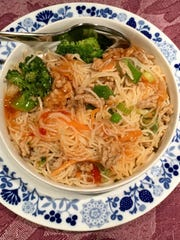 Rice Noodles with Chili-Ginger Pork can also be made