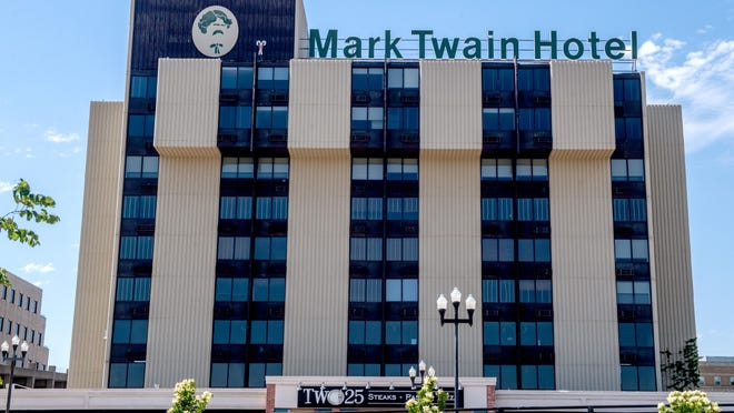 The Mark Twain Hotel, 225 NE Adams St. in Downtown Peoria on June 2, 2020.
