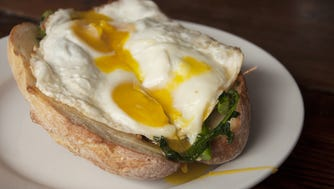 The Braised Pork Eggs are popular during brunch at Porta in Asbury Park.