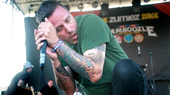 Boysetsfire's Nathan Gray plays the Bamboozle Festival