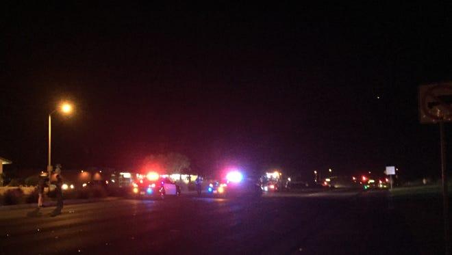 A multiple-vehicle crash temporarily closed Ramon Road near Gene Autry Trail Saturday.
