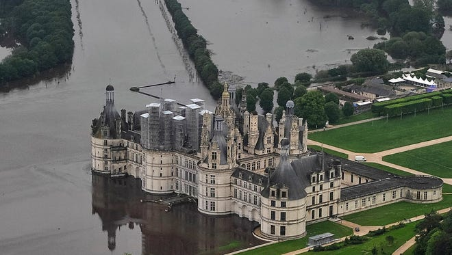 An aerial picture taken on June 2, 2016, shows the castle of Chambord, about 105 miles southwest of Paris.
