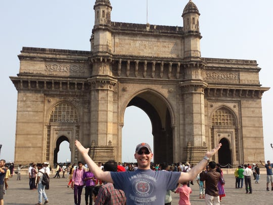 Chris Turpen from Royal Oak took the D to the Gateway of India, a monument built during the British Rule in Mumbai City in March 2015.