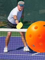 You can find a plethora of pickleball courts at pretty much every active adult community in the state -- and some city parks too.