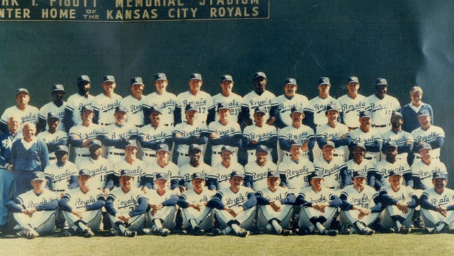 The 1985 Kansas City Royals team picture at Terry Park