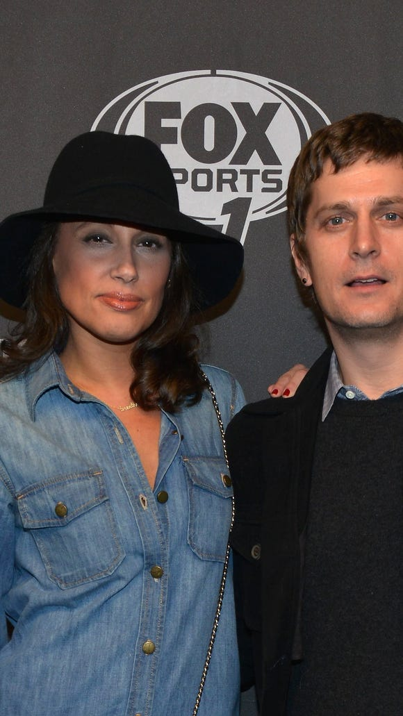 Singer/songwriter Rob Thomas (R) and model Marisol Maldonado attend Time Warner Cable Studios Presents FOX Sports 1 Thursday Night Super Bash on January 30, 2014 in New York City.