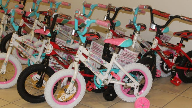 Desert Sun Toyota works on all kinds of wheels. They will be giving away free bicycles today at 1 p.m. in their showroom, 3333 N. White Sands Blvd.