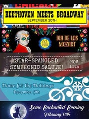 Corpus Christi Symphony Orchestra 2017-18 season concert poster.