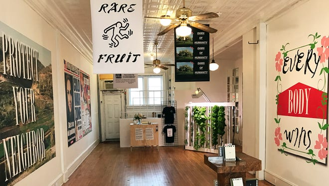 """""""Grocery"""" was born out of a desire to see something that was missing in Asbury's downtown area. In exchanging spectacle for practicality, Ruddick and Amelchenko create a new space for conversation, one in which ambiguities abound."""