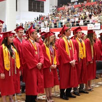 NEHS students walk the line at the school's 36th Commencement Friday